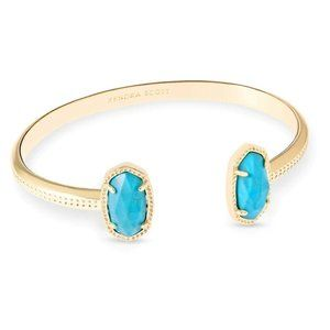 Kendra Scott Elton Gold Cuff Bracelet In Turquoise